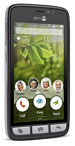 Doro 8030 4 5 SIM nica 4G 8GB 2000mAh Negro - Smartphone 11 4 cm 4 5 8 GB 5 MP Android 5 1 Negro