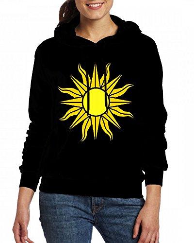 Custom Womens Hooded - Design A shining sun Hoodies Black