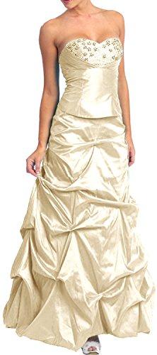 Brautkleid bodenlang Abendkleider für Hochzeit Brautjungfernkleid lang Brautmutterkleid elegant...