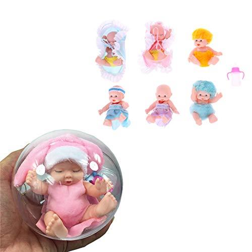 Dabixx Bambolina, Bambola Reborn Bambola Sorpresa Baby Real Mini Baby Bebe Reborn Girl Toy - Color Randomly