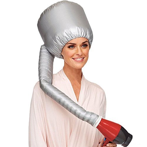 Tragbare weiche Frisur Bonnet Hood Hut, MINPE Weiche Föhn Cap Mütze Attachment Weiche Kapuze Haube Portable Hair Styling Haircare Salon Frisur Behandlungen Hut Cap Curlformers - Soft Bonnet Hair Dryer