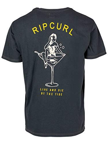 RIP CURL Pin UP SS tee Tops y Camisetas Hombres Negro - XL -...