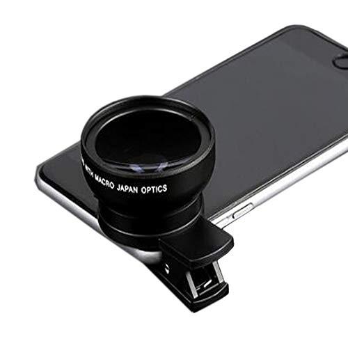YANRR 0.45 X Wide Angle Lens Mobile Universale Morsetto Universale Esterno Due-in-Fotocamera 37 MM Mobile Obiettivo Macro