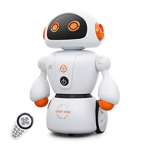 Thole Ferngesteuerter Roboter Spielzeug für Kinder Intelligent Programmierbar Roboter Musik Spielzeug für Kinder Jungen Mädchen Geschenk,Orange