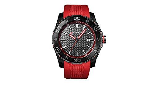 Audi Sport GmbH 3101600801 Original Sport Uhr Dreizeigeruhr Armbanduhr Chronograph, rot