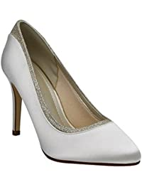 Rainbow Club Brautschuhe Billie Ivory Satin / Fine Glitter