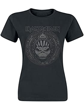 Iron Maiden Book of Souls Skull Camiseta Mujer Negro