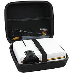 Hermitshell Housse de Voyage Compatible avec Deeplee DP400 Mini Vidéoprojecteur LCD Retroprojecteur 1500 Lumen Home Cinéma Projecteur Portable