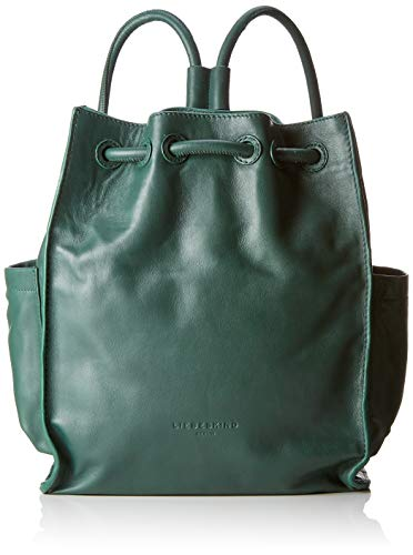 Liebeskind Berlin Drawstring Backpack Medium - Borse a zainetto Donna, Verde (Dark Green), 11x33x27 cm (W x H L)