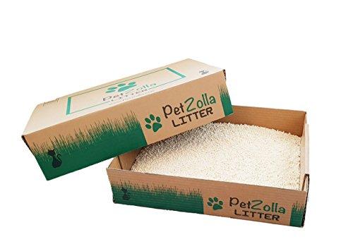 PetZolla Litter - Lettiera per Gatti 100{4aac39d1924472695ce4da1cbc654395a19f41ee00bcf444505cf78dfb608a4c} Vegetale in Mais Bianco