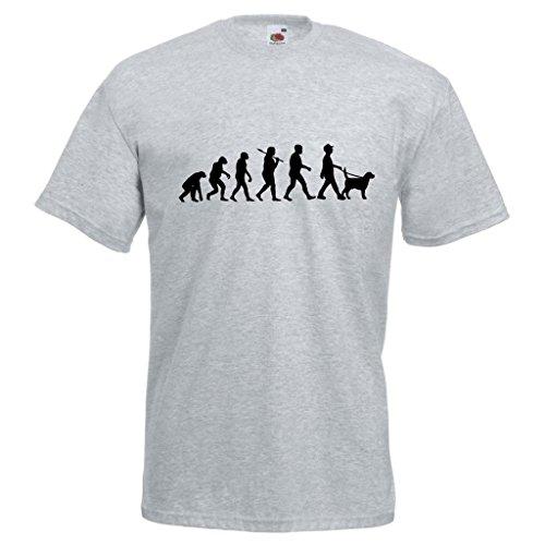 Evolution of a Dog Walker (Labrador) Standard Heather T-Shirt with Black Print