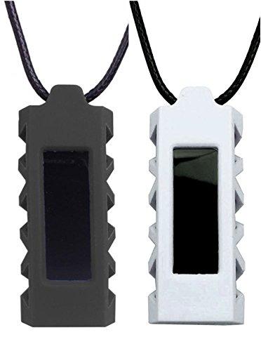NEO+ Halskette mit Silikonanhänger für Fitbit Alta oder Alta HR Tracker, Set of 2: White, Black, Einheitsgröße (Halskette Alte)