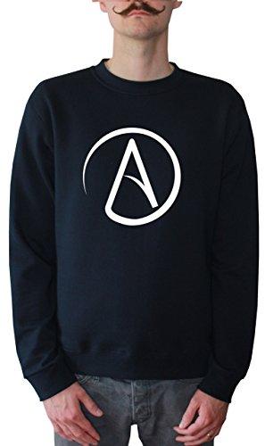 Mister Merchandise Herren Pullover Sweater Atheismus Atheist Atheism , Größe: M, Farbe: Navy