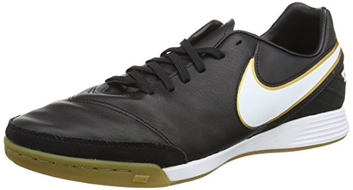Nike Tiempo Mystic V Indoor/Court, Chaussures de Football Homme Noir (Black/White)