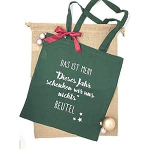 Beutel Dieses Jahr schenken wir uns nichts – lustiges Weihnachtsgeschenk inkl. Grußkarte und Schleife