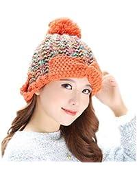 YN Cappello Donna Inverno Coreano Wave Fashion Caldo Cappello Lavorato a  Maglia Cappuccio di Lana per Orecchie da Uomo Carino indossabile… 701f70e88492