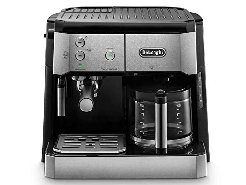 DeLonghi BCO 421.S Independiente Totalmente automática - Cafetera (Independiente, Cafetera combinada, 1 L, Dosis de café, De café molido, 1750 W, Negro, Plata)