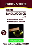 #2: Brown & White Edible Sandalwood Oil (Lite) with Olea Europaea Extracts, 100% Veg - 15 ml