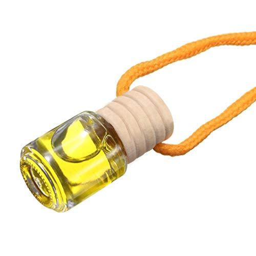 Fewxdsad - Bottiglia di Profumo da Appendere per Auto, diffusore Essenziale per aromaterapia Giallo.