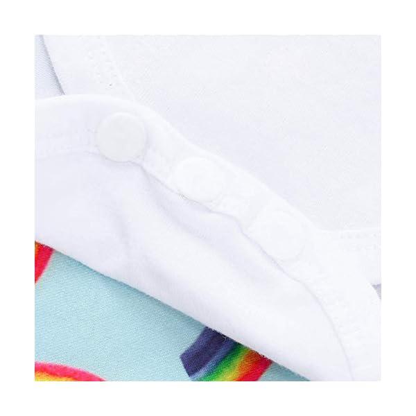 BaojunHT Newborn Girl Boy Fashion Rainbow Sleepsuit Letter Romper Pants Hat Jumpsuit Set