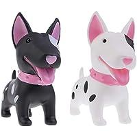 Preisvergleich für Sharplace Hund Geformt Sparschwein Spardose für Münzen & Noten - Kinder Spardose-Schwarz und Weiß