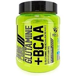 3xl pure glutamina + bcaa 4.1.1, 500gr aminoácidos con sabor a coca cola