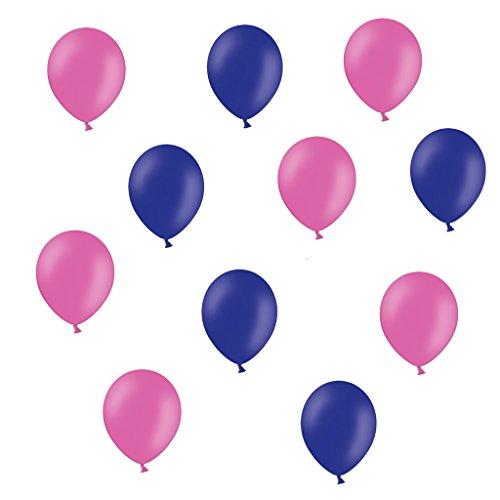 50 x Premium Luftballons je 25 Pink Lila - ca. Ø 28cm - ohne Schadstoffe - 50 Stück - Ballons als Deko, Party, Fest, Hochzeit, Mädchen Geburtstag - Farbe Lila & Pink - Helium geeignet - twist4®