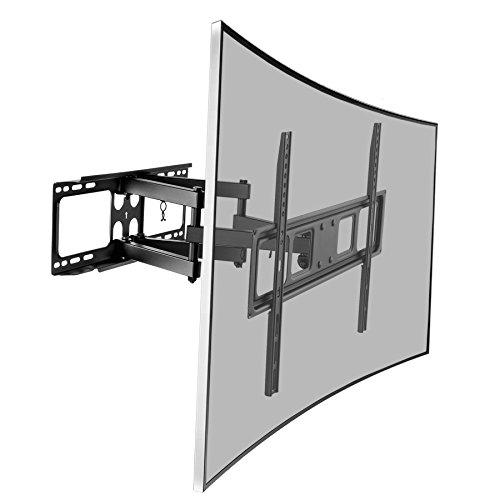 SAVONGA TV Fernseh Wandhalterung schwenkbar neigbar, für Fernseher 40 43 49 50 55 65 70 Zoll wie Samsung LG, VESA 200x200 400x400 300x200 300x300 400x200 600x400 75x75 100x100, hält bis 40kg (522118N)