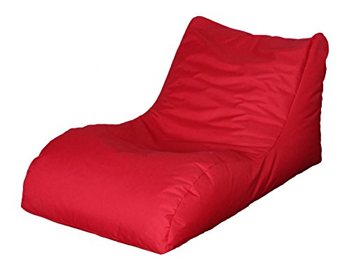 Quantum Interior Sitzsack mit Lehne, Relax Lounge, ca.70x60x125cm, (Rot)