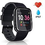 EUMI Smartwatch Orologio Intelligente Sport Braccialetto Smart Attività IP67 DurataBatteria 15-18 giorni 8.5mm Spessore Cronometro Contapassi Monitoraggio calorie e sonno SMS SNS per iOS e Android
