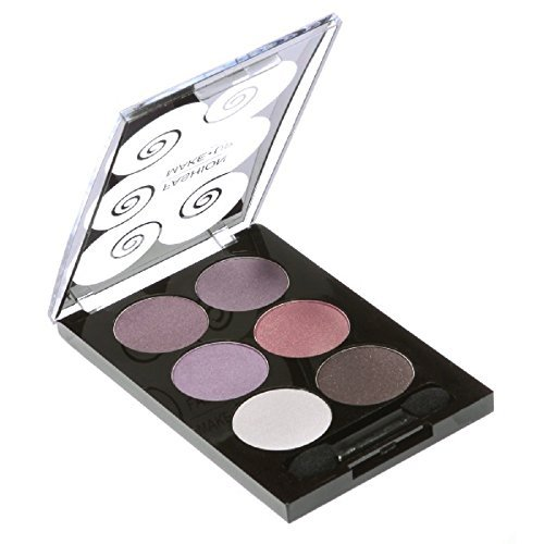 PALETTE DE MAQUILLAGE DÉGRADÉ 6 TONS degradé de violet + 1 PINCEAU PERFECT MAKE UP