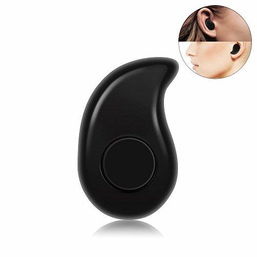 Mini auriculares inalámbricos Invisible Bluetooth 4.1 Micrófono para auriculares y manos libres para manos libres con reducción de ruido iPhone iPad Teléfono inteligente Android Auriculares IOS y Andr (Black)
