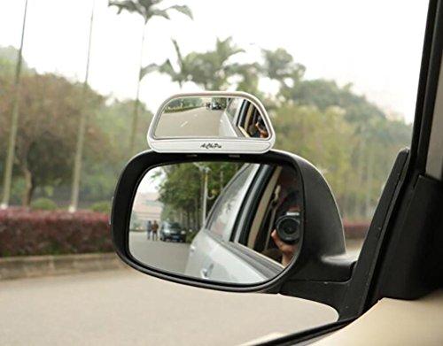 Sheiy 2 x verstellbare Autorückspiegel Zusatzspiegel gegen Toten Winkel, Weiß