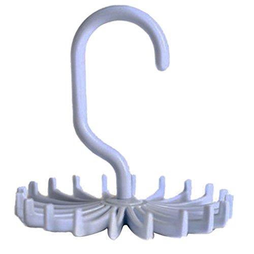 Gazechimp Perchas para Bufanda de Correa de Corbata Ajustable con 20 Ganchos Soporte de Suspensión de Mantones