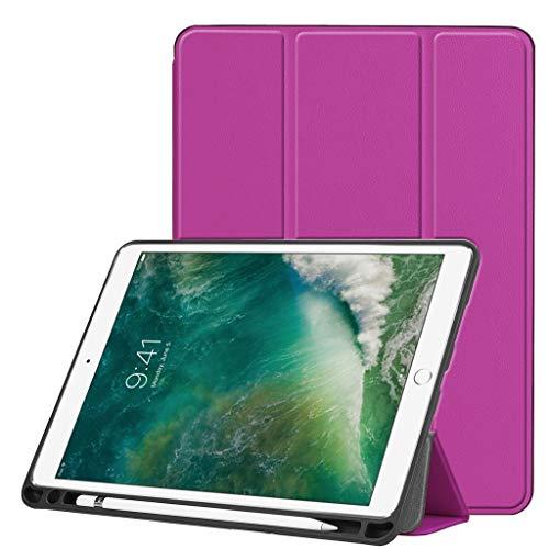 Renzhe Schutzhülle für iPad Air 26,7 cm (10,5 Zoll) 2019 (automatische Schlaf-/Wach-Funktion), schlanke Eckenschutz, leicht, mehrere Winkel, violett (Air Ipad Belkin Tastatur-hülle)