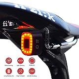 One enjoy Luce Posteriore Bici Intelligente Ultra Luminoso, luci per Bicicletta Ricaricabile, accensione/spegnimento Automatico, LED Impermeabile IPX5, 30 Ore + (reggisella, Sella)