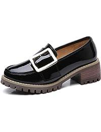 Zapatillas De TacóN con Borlas De Tacones De TacóN De Mujer BritáNica Slip-On Zapatos