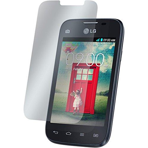 Preisvergleich Produktbild 2er-Pack Displayschutzfolie matt für LG L40 Dual von PhoneNatic