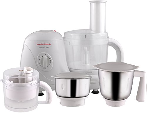 Morphy Richards Essential 600-Watt Food Processor (White) at amazon
