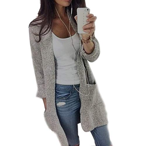 Lucky mall Frauen Stricken Ärmel Pullover Mantel Strickjacke Jacke, Einfacher Strick-Cardigan