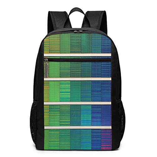 Vintage Laptop Backpack, Rainbow Cubic College School Computer Bag for Women Men -