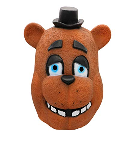 Kinder Nächte 5 Kostüm Freddy's Bei - Halloween Masken Fünf Nächte Bei Freddy Kostüm Maske FNAF Foxy Chica Freddy Fazbear Bär Latex Gesicht Party Cosplay Supplies