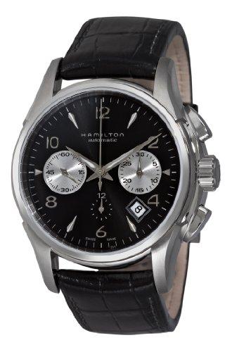 Hamilton Herren h32656833Jazzmaster Schwarz Zifferblatt Chronograph