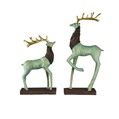 MERRYHE Ciervos Escultura Adornos Sets Elk Pareja Estatuas Escritorio  Decoración Wine Cabinet para Niñas Niños Hombres Mujeres R f721cdcac5b