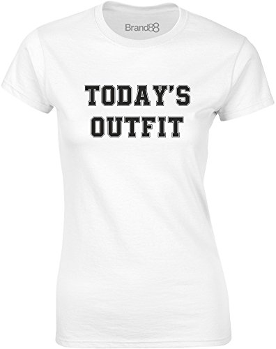 Brand88 - Today's Outfit, Mesdames T-shirt imprimé Blanc/Noir