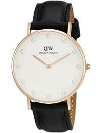 Daniel Wellington 0951DW - Reloj para mujer con correa de cuero, color negro