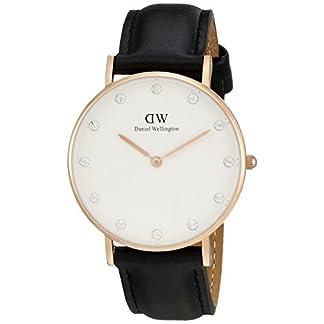 Daniel Wellington 0951DW – Reloj para mujer con correa de cuero, color negro