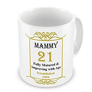 """Me to You Muttertagskarte """"MAMMY"""" 21st Birthday """", die 1994 Jahres Tasse, goldfarben"""