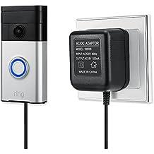 prise europ/éenne Bloc dalimentation adaptateur pour Ring Video Sonnette de porte LANMU Power Supply pour Ring Video Doorbell Pro