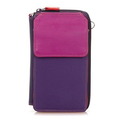 MyWalit Portefeuille Zip en cuir rond multi Sac à bandoulière 1220 Multicolore - Sangria